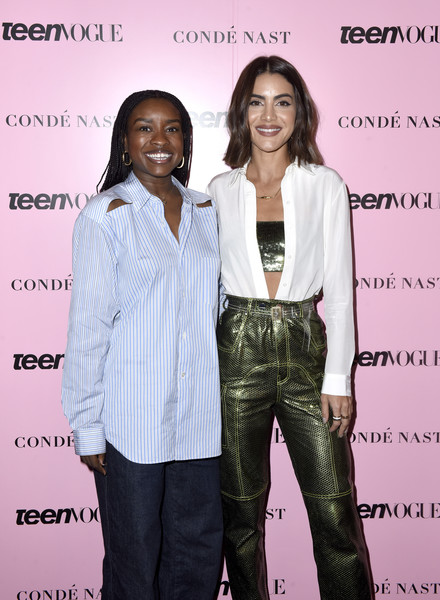 More Pics of Camila Coelho Leather Pants (3 of 6) - Pants & Shorts Lookbook - StyleBistro [fashion,suit,event,fashion design,long hair,formal wear,pantsuit,style,arrivals,tahirah hairston,camila coelho,fashion,california,los angeles,teen vogue,l,teen vogue summit,wellness events]