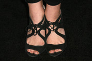 Bridgit Mendler's black lace-up sandals at the Teen Vogue Young Hollywood party had a classy vintage feel.