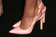 Bailee Madison donned a pair of simple yet pretty pink slingback pumps for the Teen Vogue Young Hollywood party.