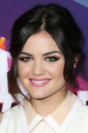 Soft pink lips kept Lucy Hale's look fun and playful—perfect for the demographic watching the TeenNick HALO Awards.