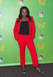 Shanice Williams was hard to miss in her bright red pantsuit at the Television Academy event for 'The Wiz Live!'