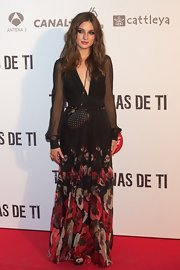 Maria Valverde took boho to another level with her long-sleeve floral dress.