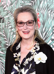 Meryl Streep opted for a simple half-up style when she attended the Women in Film pre-Oscar cocktail party.