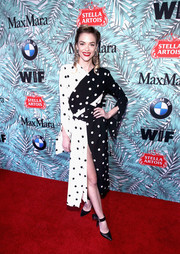 Jaime King looked playfully chic in a black-and-white polka-dot frock by Monse at the Women in Film pre-Oscar cocktail party.