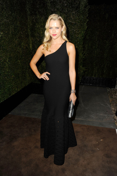 Teresa Palmer One Shoulder Dress