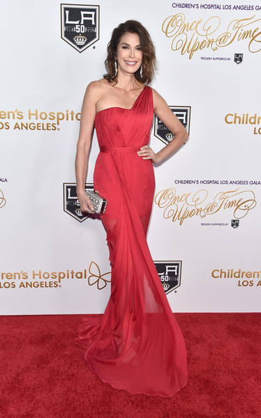 Teri Hatcher One Shoulder Dress