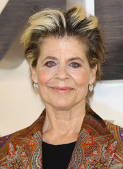 Linda Hamilton went edgy with this messy hairstyle at the 'Terminator: Dark Fate' photocall in London.