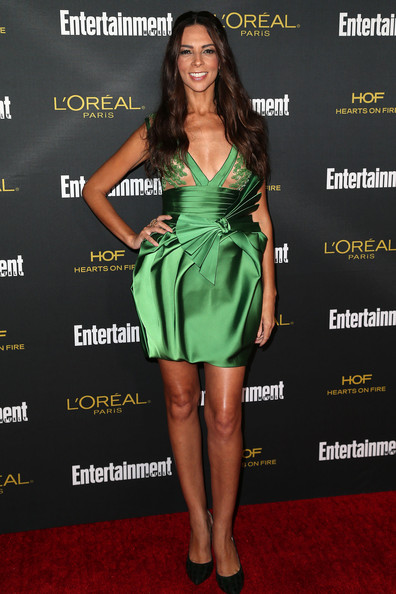 Terri Seymour Mini Dress [clothing,dress,cocktail dress,carpet,fashion model,strapless dress,fashion,red carpet,premiere,leg,party - arrivals,terri seymour,west hollywood,california,fig olive melrose place,entertainment weekly,pre emmy party]