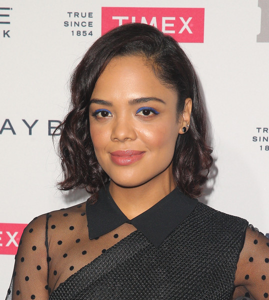 Tessa Thompson Curled Out Bob [ones to watch,hair,face,hairstyle,eyebrow,lip,beauty,chin,forehead,black hair,long hair,arrivals,one to watch,people,tessa thompson,ysabel,west hollywood,california,event]