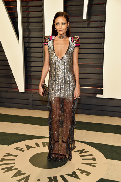 Thandie Newton Sequin Dress