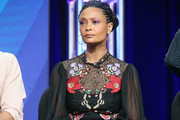 Thandie Newton Embroidered Dress