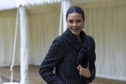 Thandie Newton Tweed Coat
