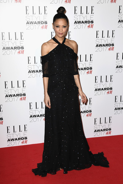 Thandiwe Newton Halter Dress [joint,hairstyle,one-piece garment,dress,fashion,neck,sleeve,waist,day dress,flooring,dress,thandie newton,elle style awards,fashion,red carpet,model,british academy film awards,joint,london,red carpet arrivals,lara stone,74th british academy film awards,red carpet,fashion,model,little black dress,louis vuitton,dos gardenias stein square neck bralette bikini top,royal albert hall london uk]