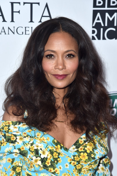 Thandiwe Newton Long Curls [hair,human hair color,hairstyle,beauty,long hair,fashion model,black hair,hair coloring,brown hair,layered hair,arrivals,thandie newton,actor,tea party,hair,hairstyle,los angeles,bafta,bbc,america tv,thandie newton,westworld,actor,70th primetime emmy awards,celebrity,image,tom lorenzo,party,television]