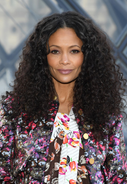 Thandiwe Newton Long Curls [image,hair,face,hairstyle,long hair,beauty,fashion,eyebrow,black hair,lip,street fashion,thandie newton,hairstyle,hair,part,hair,face,paris,louis vuitton,photocall - paris fashion week womenswear fall,thandiwe newton,how to lose friends alienate people,actor,celebrity,photography,image,hairstyle,getty images,stylebistro]