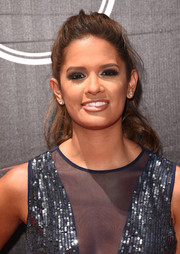Rocsi Diaz sported a mildly messy, loose ponytail at the ESPYs.