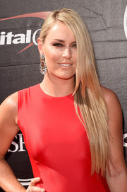 For her ESPYs look, Lindsey Vonn left her hair down in a sleek straight side sweep.