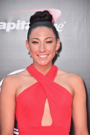 Christen Press worked a braided top bun at the 2016 ESPYs.