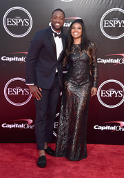 Gabrielle Union got majorly sultry in a see-through black lace gown by August Getty Atelier for her 2016 ESPYs look.