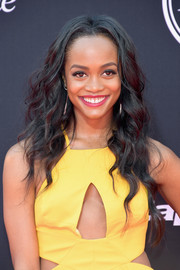 Rachel Lindsay wore her long hair down in a boho wavy style at the 2017 ESPYs.