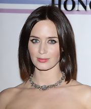 Emily Blunt wore her shiny, mid-length bob with a casual center part at the 34th Kennedy Center Honors.