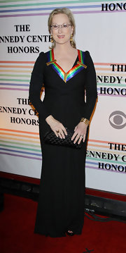 Meryl Streep looked divine in a black knit evening dress for the Kennedy Center Honors.