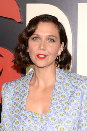 Maggie Gyllenhaal sported a retro-chic curly bob at the New York premiere of 'The Deuce.'