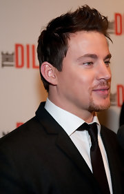 Channing Tatum added some height to his 'do by spiking his hair.