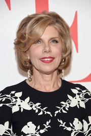 Christine Baranski wore a perfectly styled bob at the 'Good Wife' finale party.