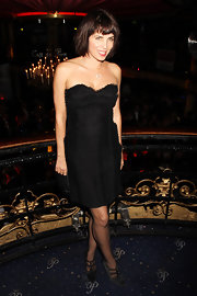 Sadie Frost looked sexy in a strapless little black dress the premiere afterparty of the 'The Heavy.'