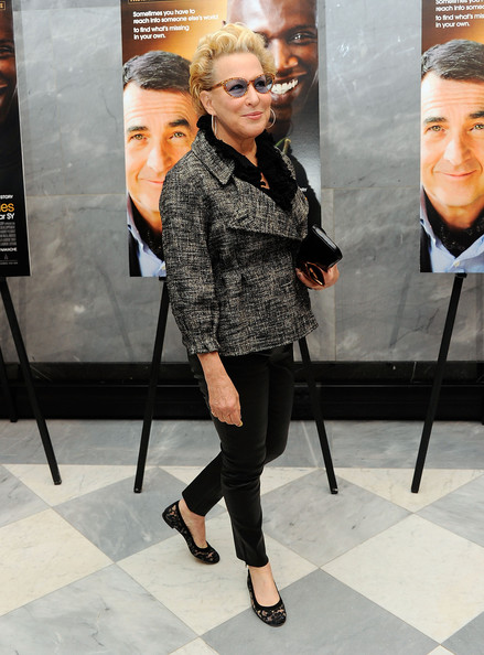 More Pics of Bette Midler Short Curls (2 of 4) - Short Hairstyles Lookbook - StyleBistro [the intouchables screening,eyewear,fashion,glasses,shoulder,fashion design,footwear,blond,outerwear,street fashion,vision care,bette midler,the paley center for media,new york city,screening]