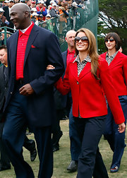 "MJ's girlfriend wears a pair of butterfly-shaped ""Whitney"" sunglasses with a tortise gradient lens to the closing ceremonies."