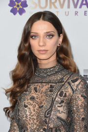 Angela Sarafyan looked perfectly sweet with her long waves at the New York screening of 'The Promise.'
