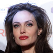 Angelina Jolie's Dusty Rose-Red Lipstick