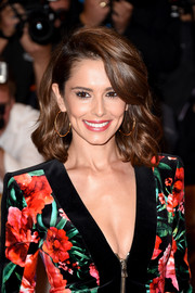 Cheryl Fernandez-Versini attended the 'X Factor' press launch wearing high-volume shoulder-length waves with side-swept bangs.