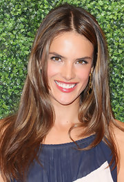 A little shimmer and shine made Alessandra's lips look extra pucker-worthy.