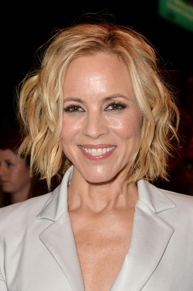 More Pics of Maria Bello Short Wavy Cut (1 of 16) - Short Wavy Cut Lookbook - StyleBistro