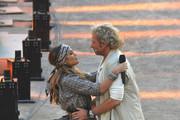 Thomas Gottschalk and Jennifer Lopez attend the