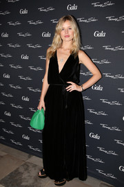 Georgia May Jagger worked a boho-meets goth vibe in this black velvet maxi dress during the Thomas Sabo flagship store opening in Hamburg.
