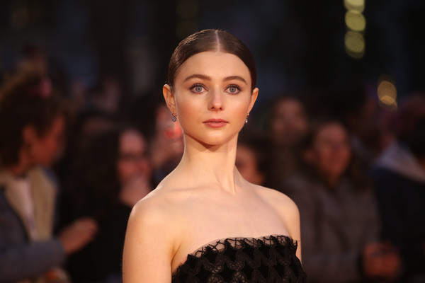 Thomasin Harcourt McKenzie Classic Bun [the king,the king uk premiere,hair,fashion,face,fashion model,beauty,lip,hairstyle,haute couture,model,fashion show,thomasin harcourt mckenzie,uk,london,england,odeon luxe leicester square,premiere,bfi london film festival]