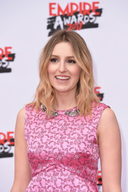 Laura Carmichael looked cute with her face-framing waves at the Three Empire Awards.