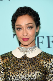 Ruth Negga amped up the glam factor with a diamond chandelier necklace by Tiffany & Co.