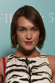 Ella Catliff attended the Tiffany & Co. 'Fifth and 57th' exhibition opening sporting a casual bob.