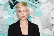 Michelle Williams joined the Tiffany & Co. Paper Flowers event wearing her signature pixie.