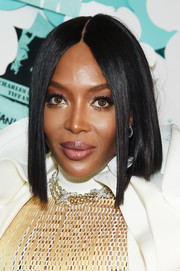 Naomi Campbell showed off a sleek graduated bob at the Tiffany & Co. Paper Flowers event.