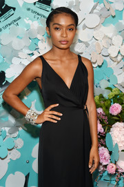 Yara Shahidi flaunted a duo of diamond cuff bracelets by Tiffany & Co. during the brand's Paper Flowers event.