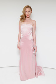 Kate Bosworth oozed classic glamour in a pale-pink strapless gown by Katie Ermilio during the debut of Tiffany's 2014 Blue Book.