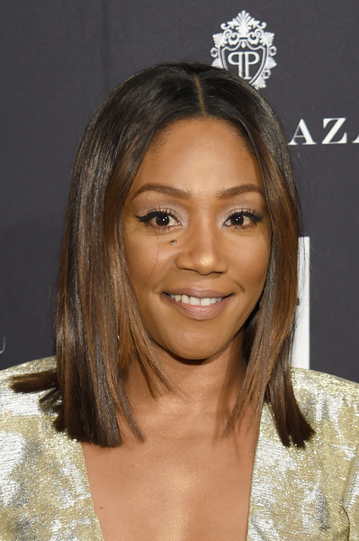 Tiffany Haddish Medium Straight Cut [hair,face,eyebrow,hairstyle,blond,chin,forehead,layered hair,brown hair,black hair,carine roitfeld,estee lauder,stella artois - arrivals,icons,plaza hotel,harpers bazaar celebrates,saks fifth avenue,fujifilm instax,genesis,infor]