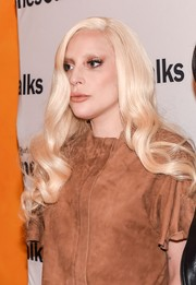 Lady Gaga was in the mood for neutrals, matching her eyeshadow with her tan outfit.