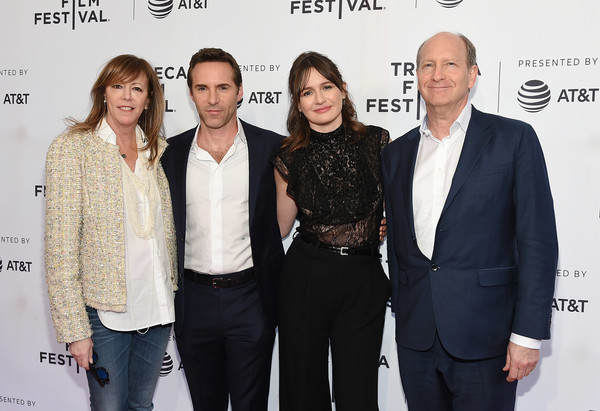 More Pics of Emily Mortimer Wide Leg Pants (2 of 18) - Pants & Shorts Lookbook - StyleBistro [event,fashion,premiere,white-collar worker,suit,fashion design,guest,jane rosenthal,alessandro nivola,emily mortimer,to dust,sva theatre,new york city,tribeca film festival,screening]
